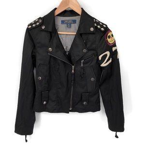 Anthropologie Millard Fillmore Blk Moto Jacket  XS